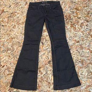 Hudson wise leg flare dark wash denim jeans 28